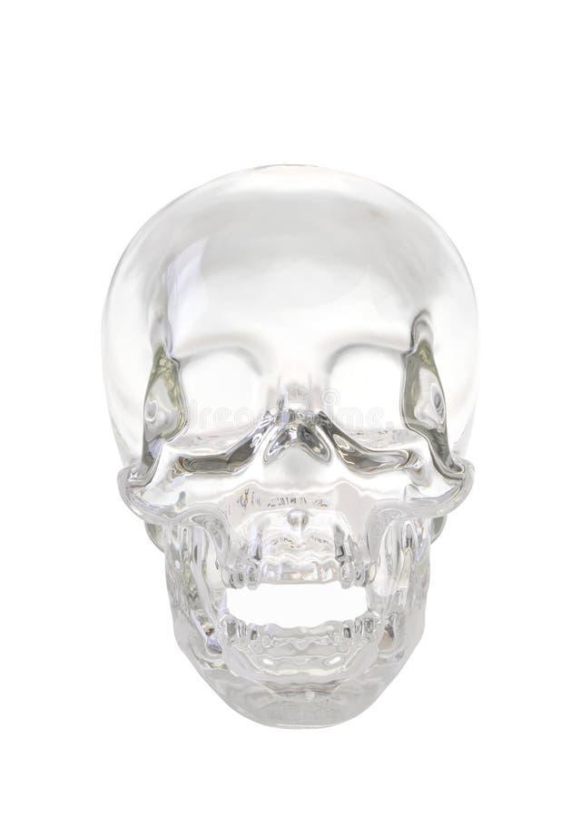 背景水晶梯度头骨 库存图片