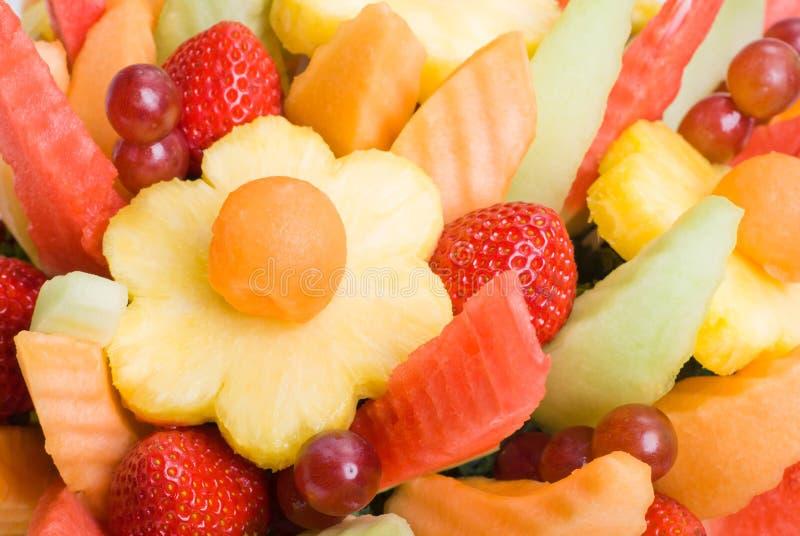 背景水果沙拉 免版税库存图片