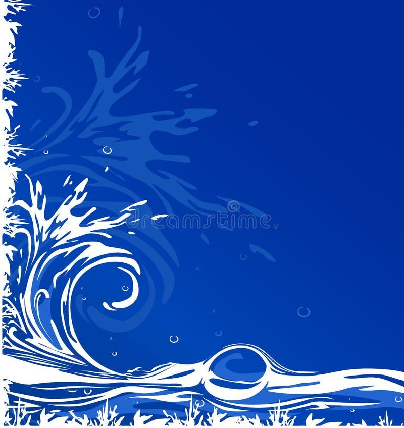背景水 向量例证