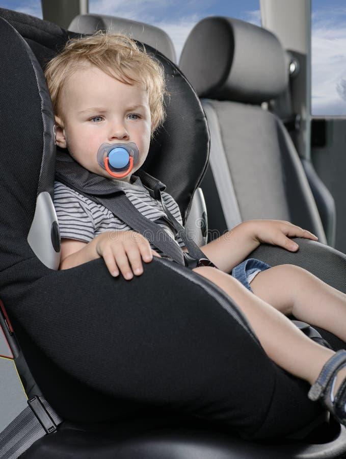 背景汽车儿童位子白色 库存照片