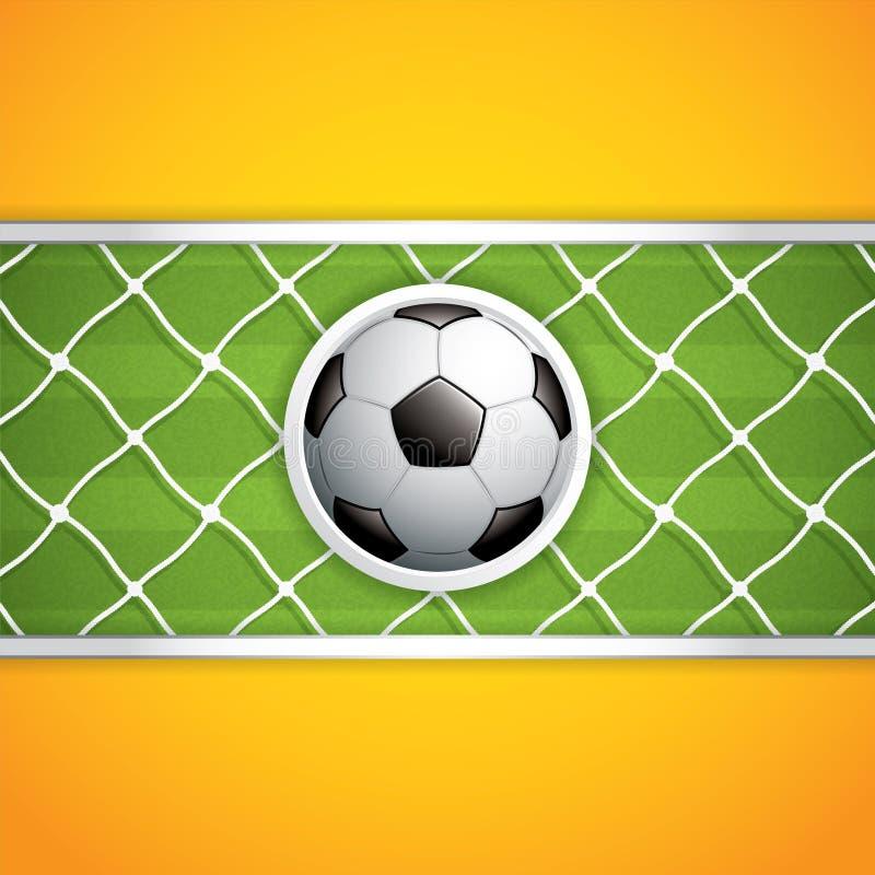 背景波浪球的足球 皇族释放例证