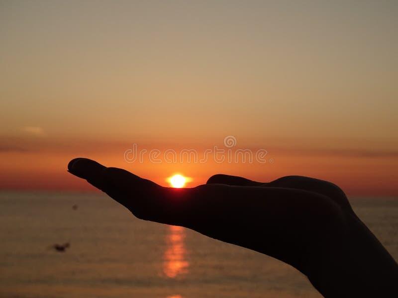 背景波罗的海日落 免版税库存图片