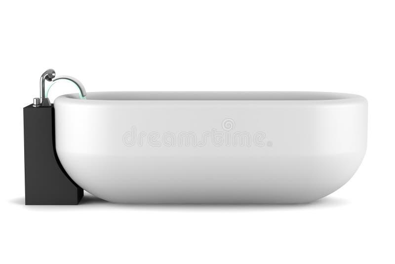 背景浴缸查出现代白色 库存例证