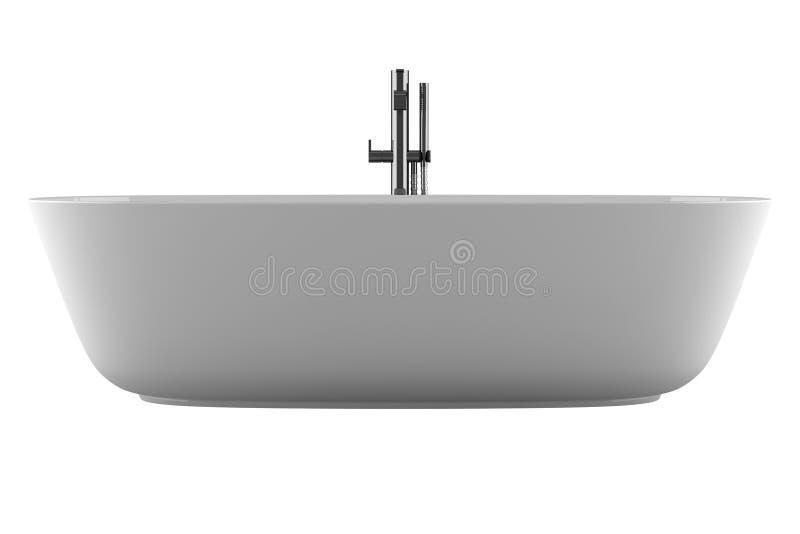 背景浴缸查出的白色 库存例证