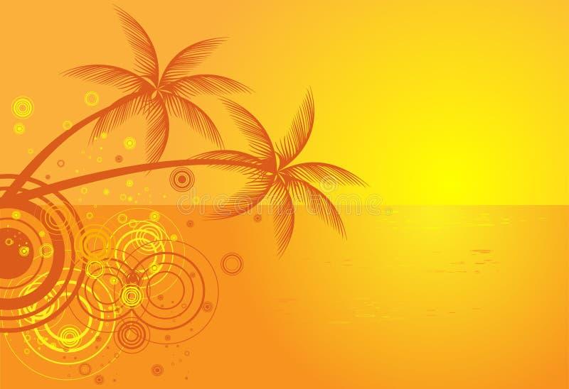 背景海滩夏天热带向量 向量例证