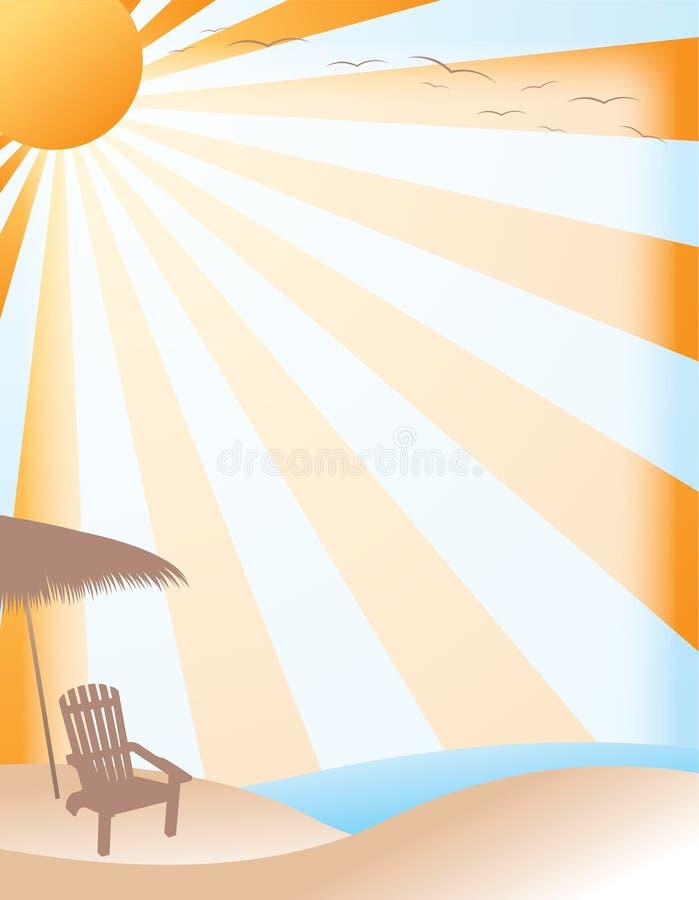 背景海滩夏天 向量例证