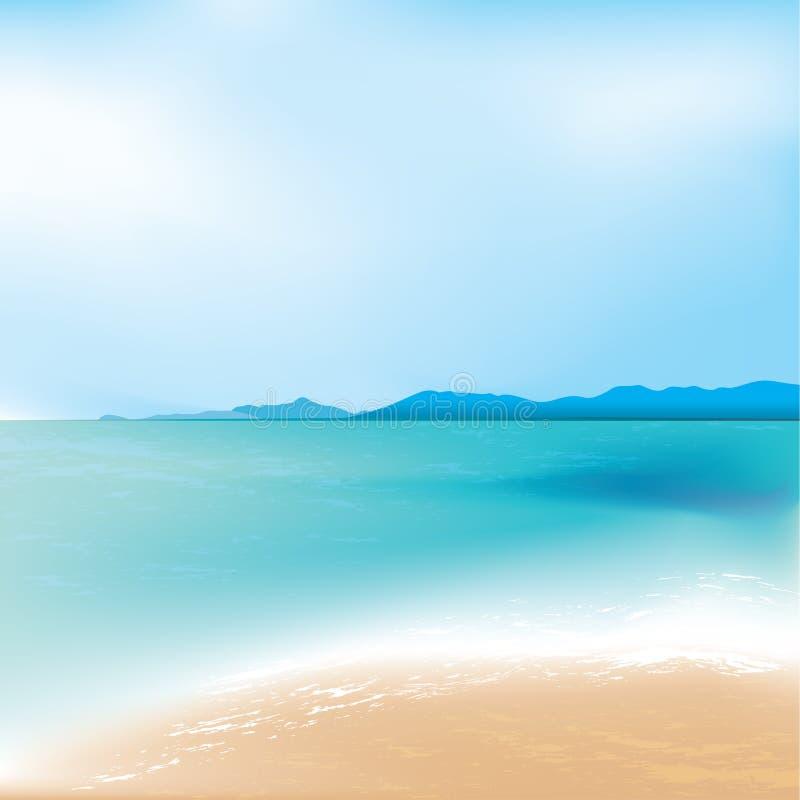 背景海滩底层重点前景框架高laping的地中海一解决方法场面se海运sumer第三wves 库存照片