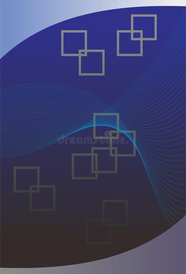 背景深蓝色白色艺术abstrack 库存例证