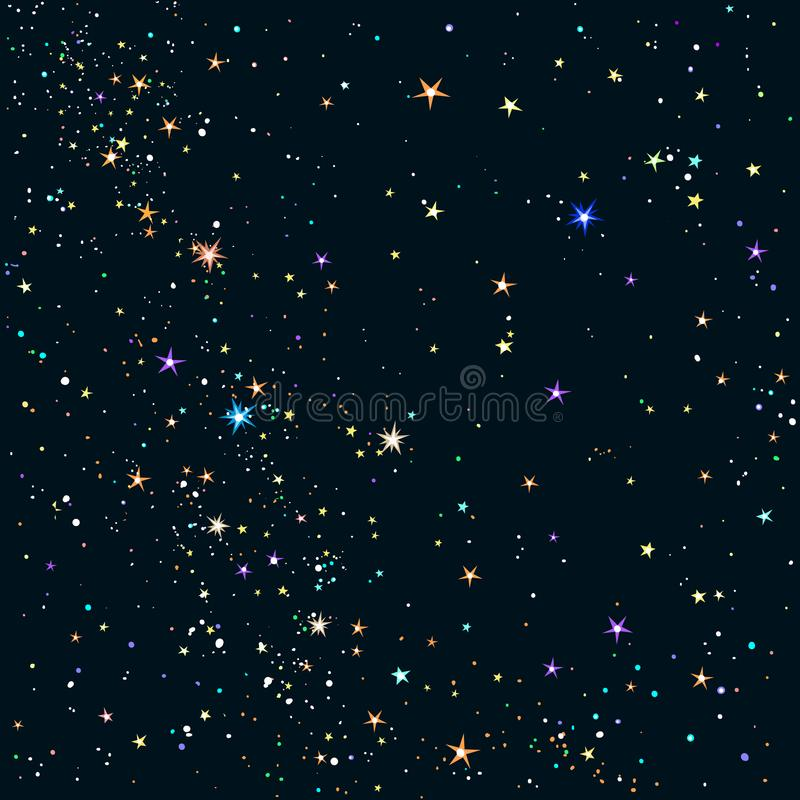 背景满天星斗的夜空 库存例证