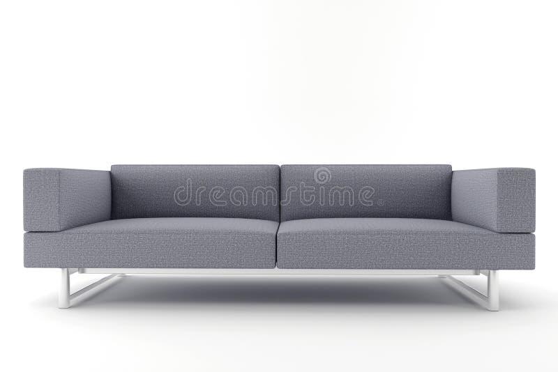 背景灰色查出的沙发白色 向量例证