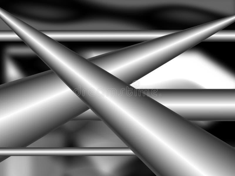 背景灰色金属管 库存例证