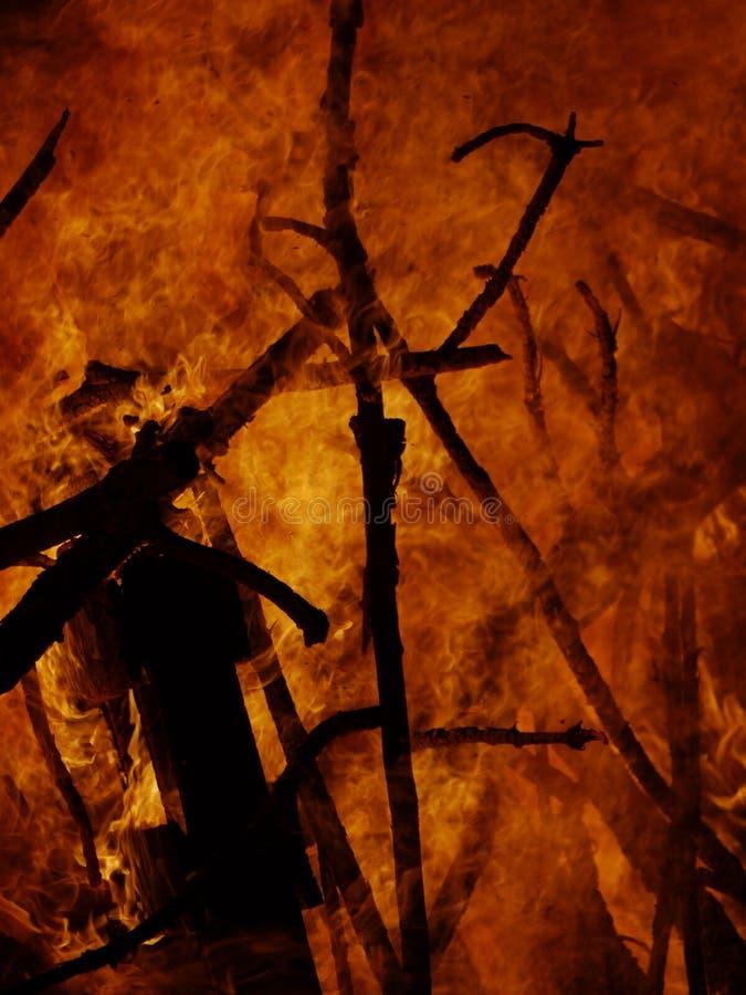 背景灼烧的火 免版税库存图片