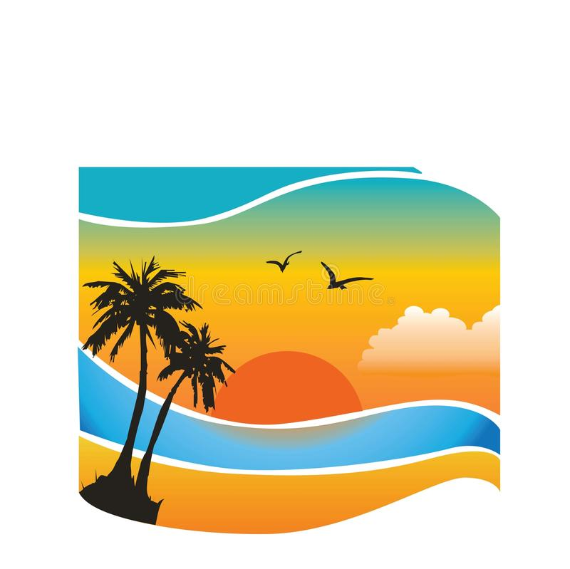 背景热带向量 免版税库存图片