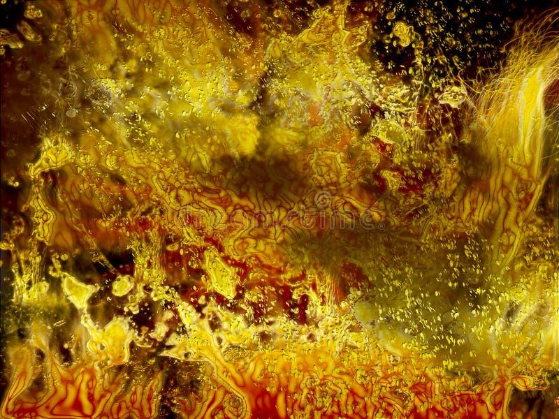 背景热的火焰,抽象地狱火,灼烧的熔岩,万圣夜, 库存例证