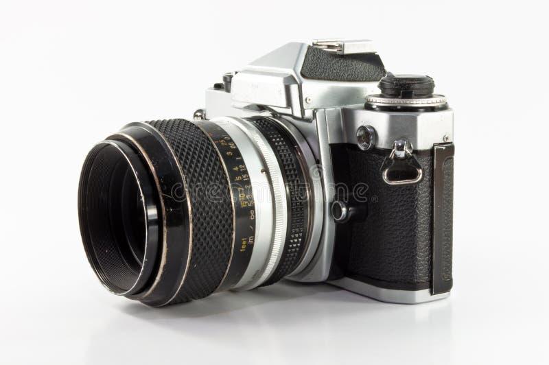 背景照相机查出老照片白色 免版税库存照片