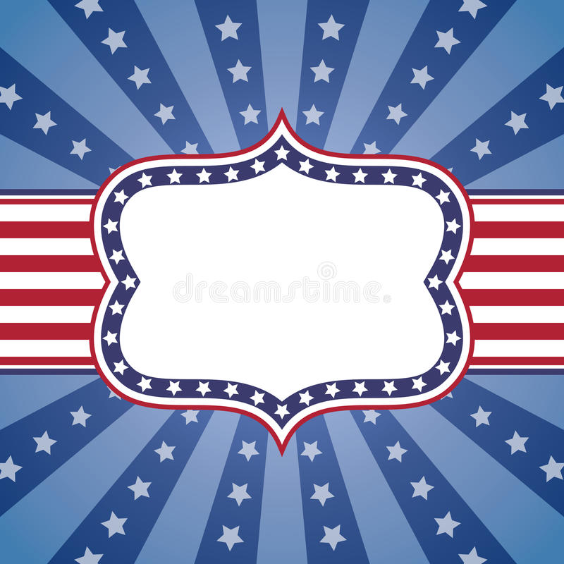 背景爱国美国 皇族释放例证