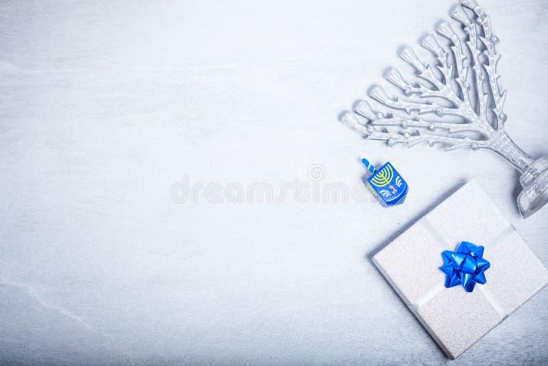 背景犹太光明节的节假日 宗教标志 免版税图库摄影