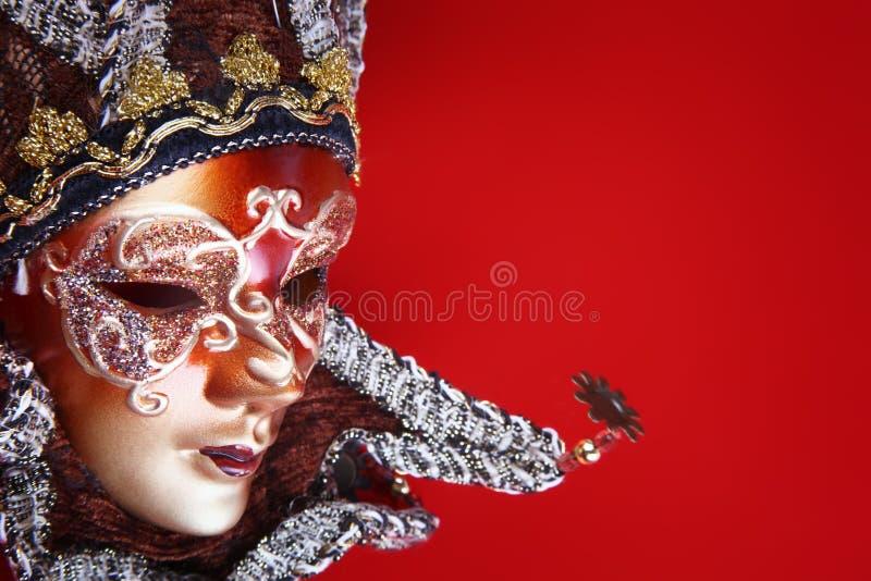 背景狂欢节屏蔽华丽红色 免版税库存照片