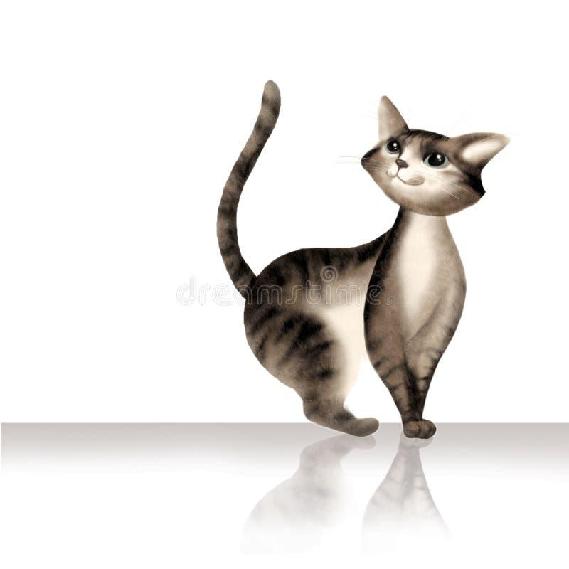 Download 背景猫白色 库存例证. 插画 包括有 表达式, 绘画, 图象, 感兴趣, 猫咪, 逗人喜爱, 数字式, 小猫 - 3672026