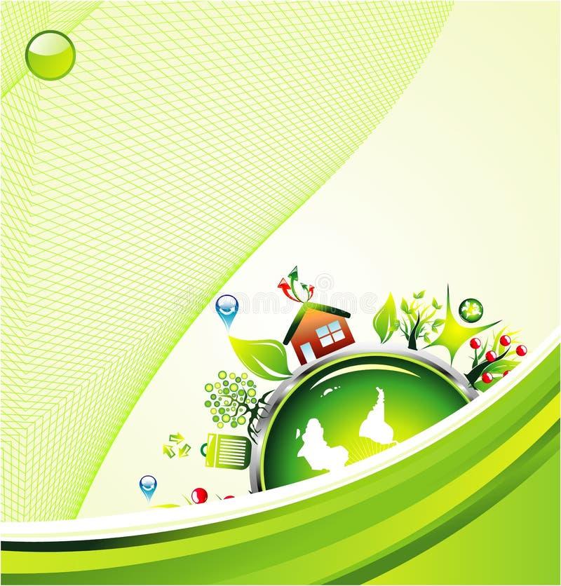 背景环境绿色 库存例证