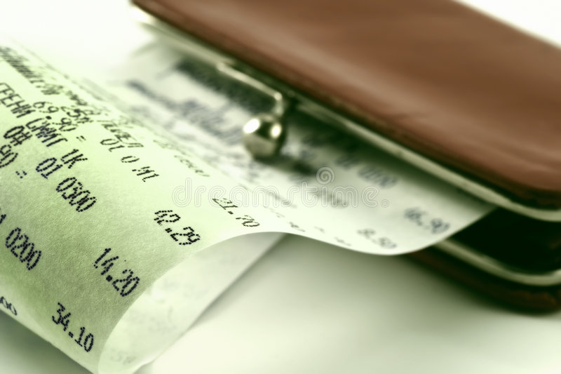 背景现金钱包收货 库存图片