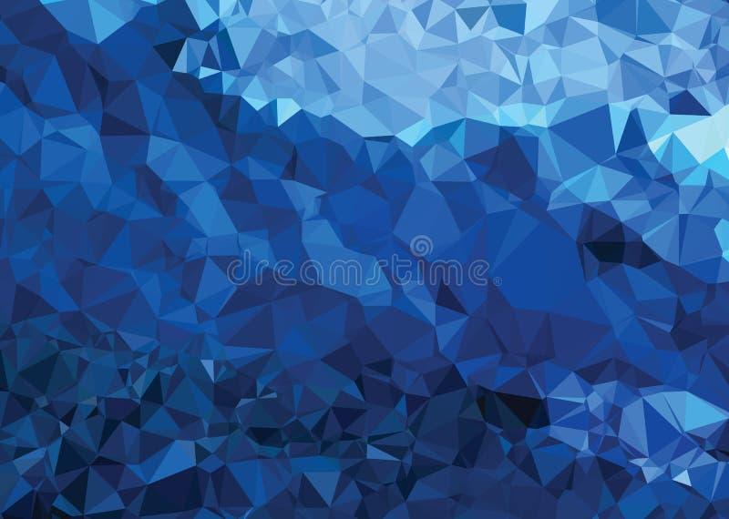 背景现代纹理三角几何摘要强的蓝色 库存例证