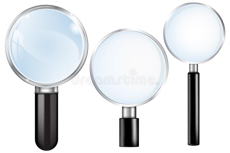 背景玻璃例证查出的扩大化的向量白色 集合 皇族释放例证