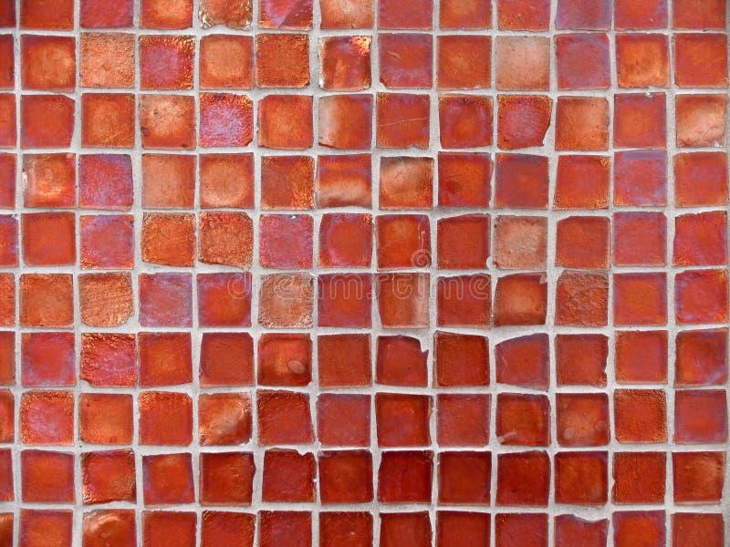 背景玻璃模式红色瓦片 免版税库存图片