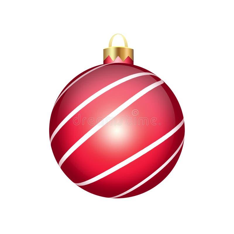 背景球圣诞节查出的白色 皇族释放例证