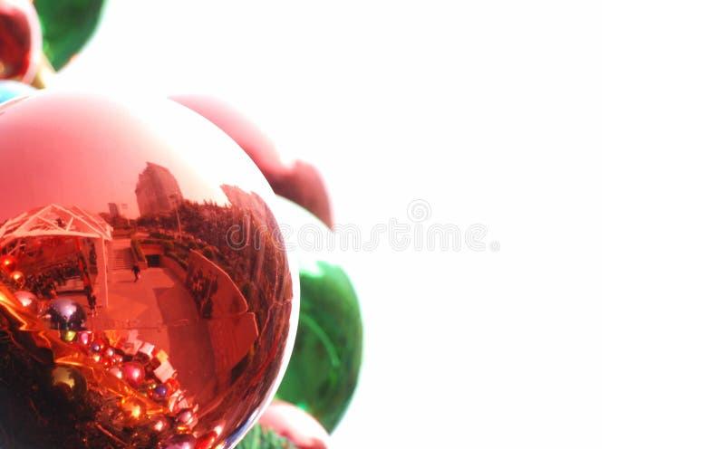 背景球圣诞节 免版税库存照片