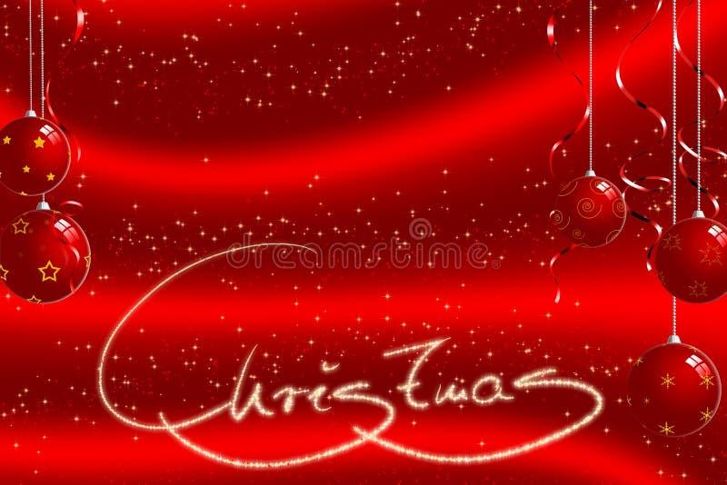 背景球圣诞节 库存例证