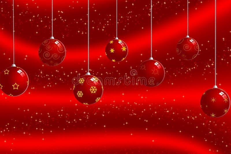 背景球圣诞节 向量例证