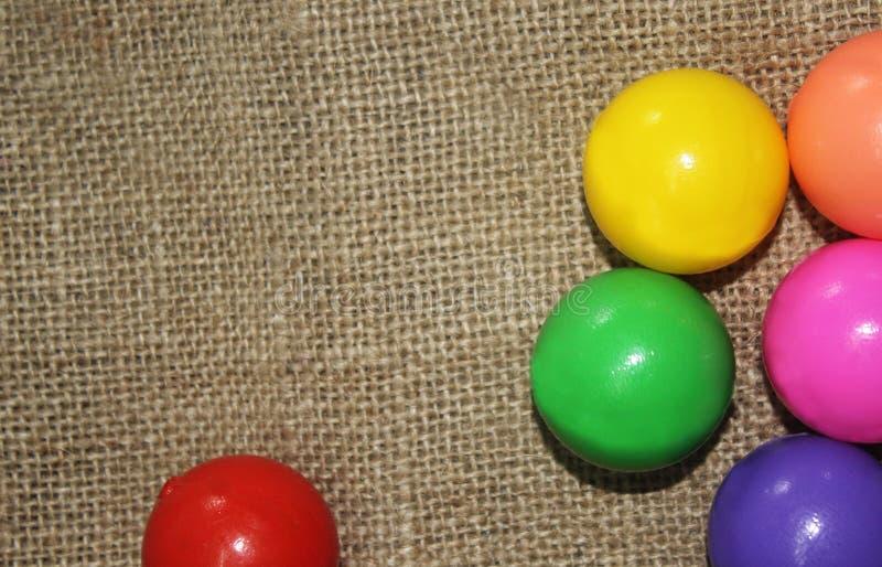 背景球明亮的颜色颜色 图库摄影