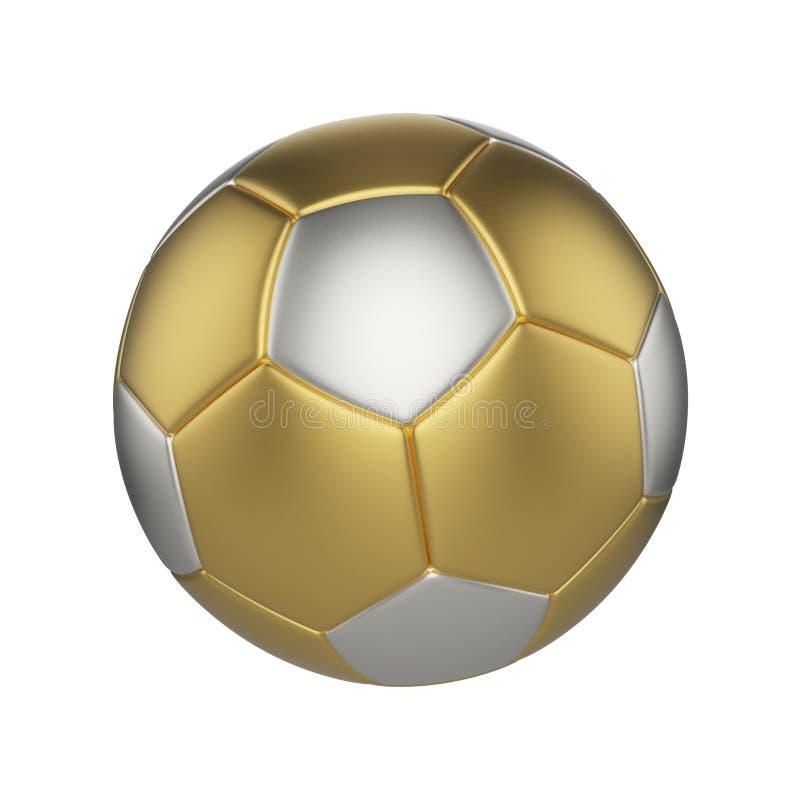 背景球查出的足球白色 金子和银色橄榄球球 皇族释放例证