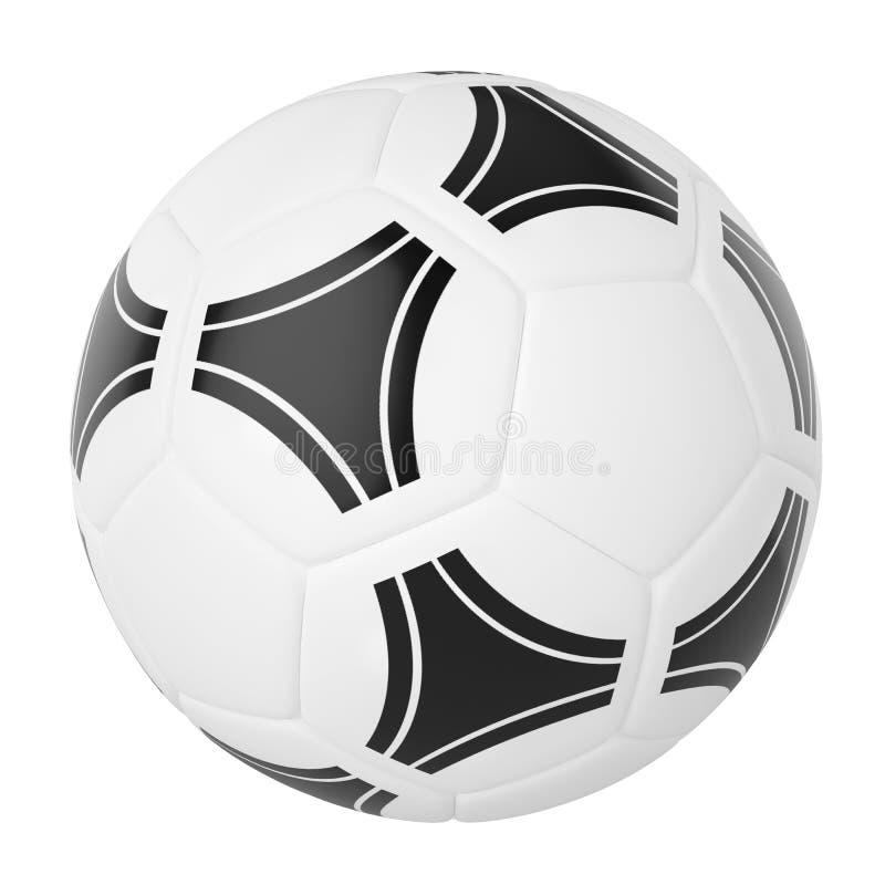 背景球查出的足球白色 库存例证
