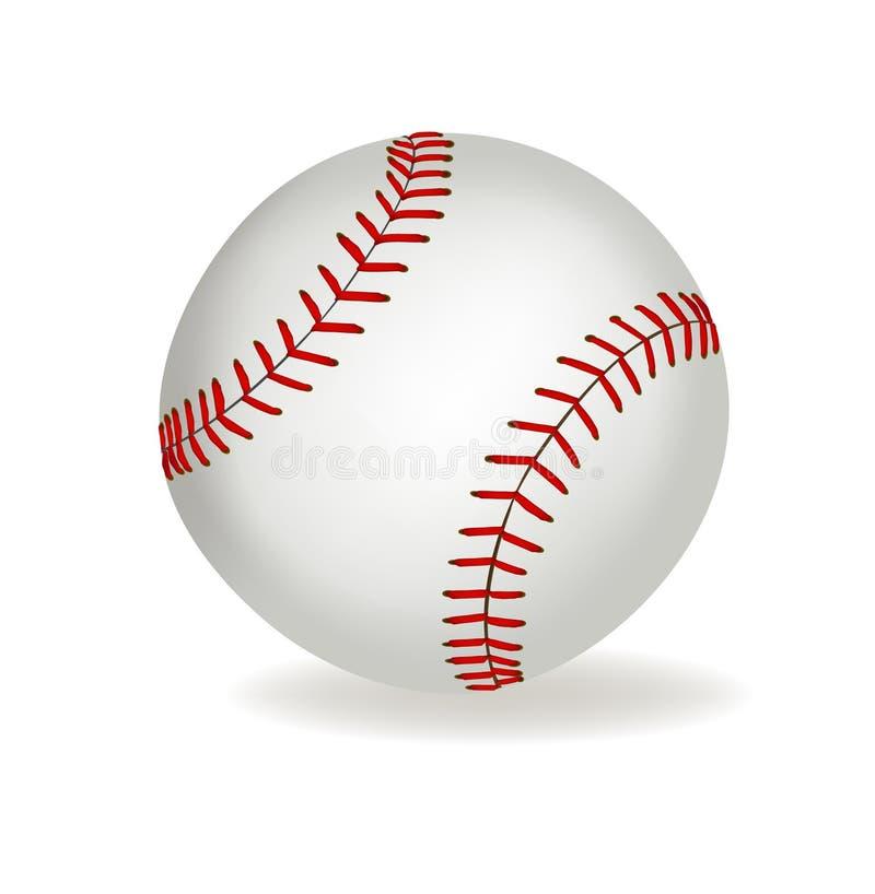 背景球棒球向量白色 皇族释放例证