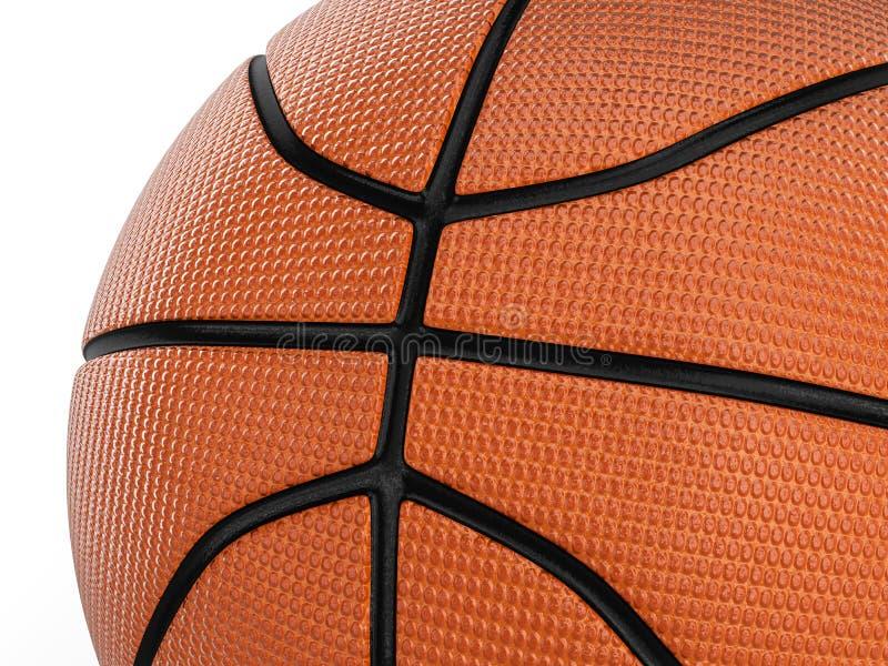 背景球篮球查出的白色 库存例证