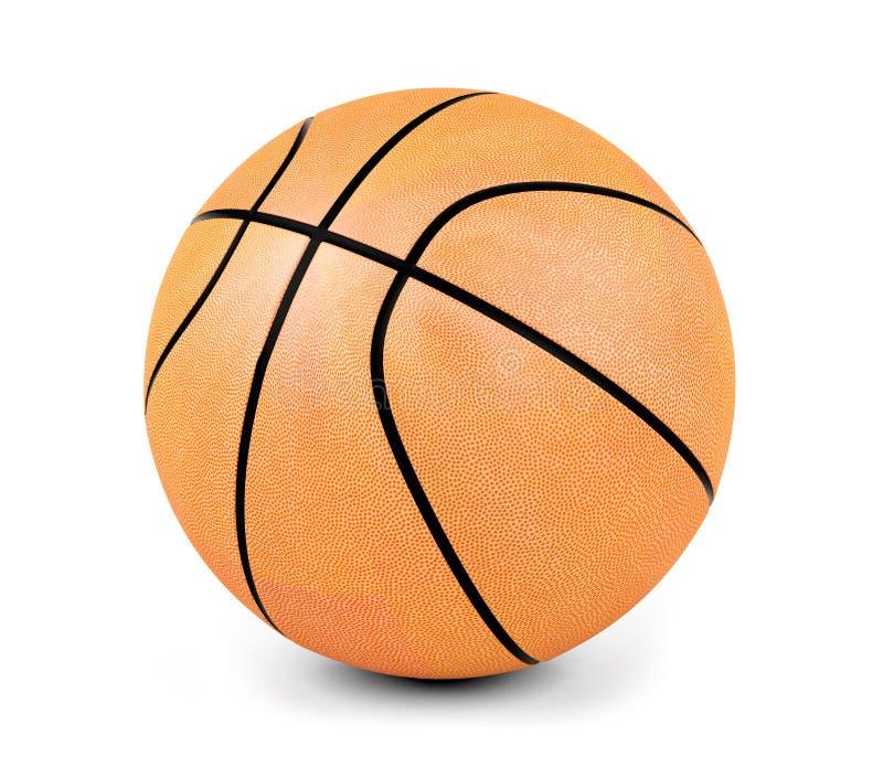 背景球篮球白色 库存图片