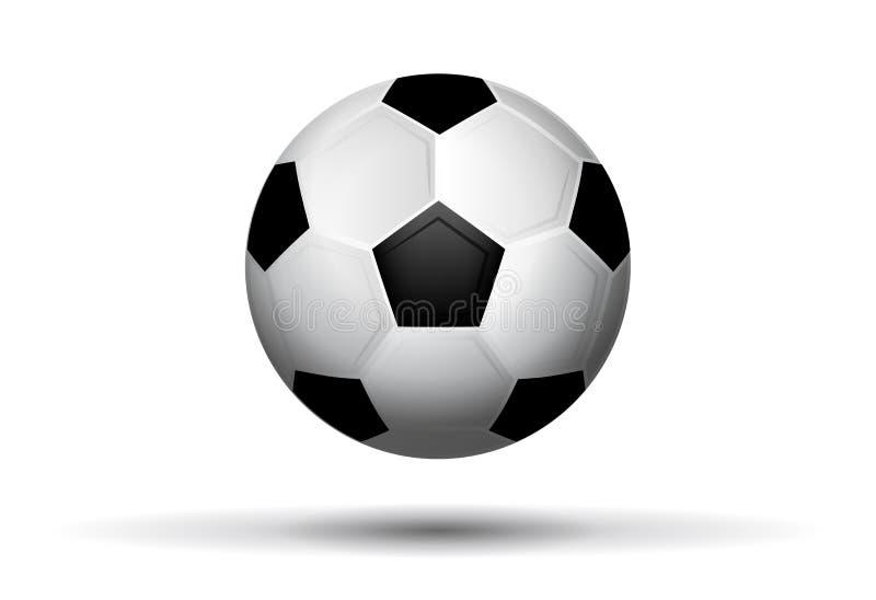 背景球足球白色 皇族释放例证