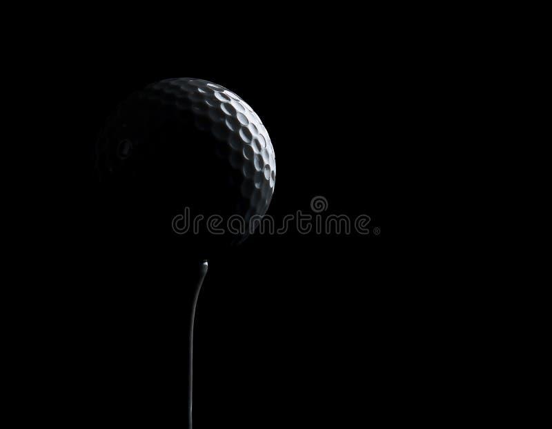 背景球黑色复制高尔夫球空间 库存图片