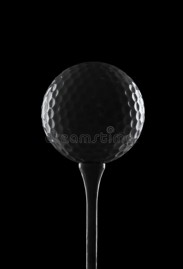 背景球黑色高尔夫球 库存照片