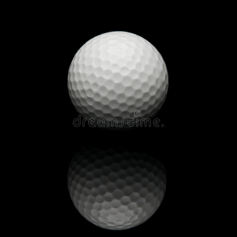 背景球黑色高尔夫球 免版税库存图片