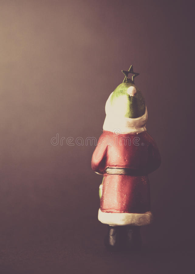 背景球黑色圣诞节装饰四 库存照片