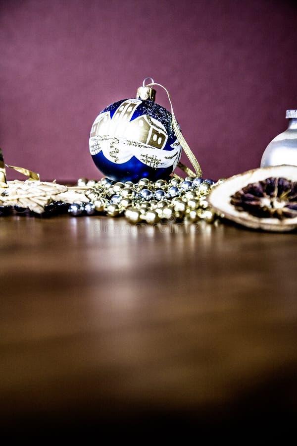 背景球黑色圣诞节装饰四 库存图片