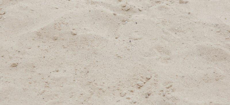 背景理想的沙子纹理 背景的沙滩 顶视图 图库摄影