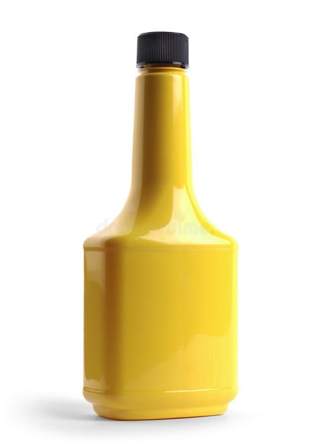 背景瓶查出的塑料白色 库存照片