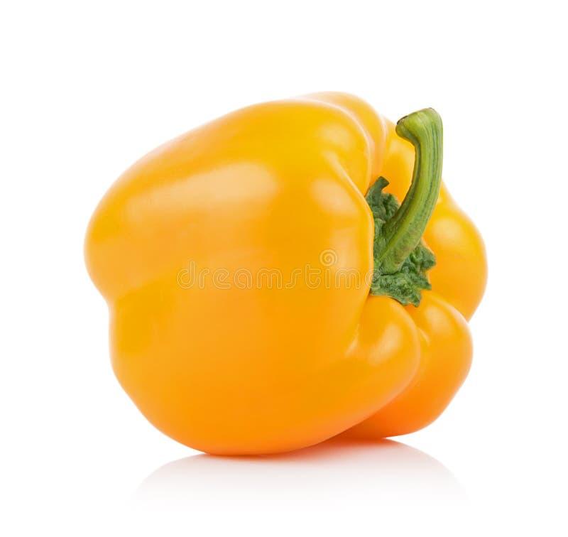 背景甜椒空白黄色 免版税库存照片