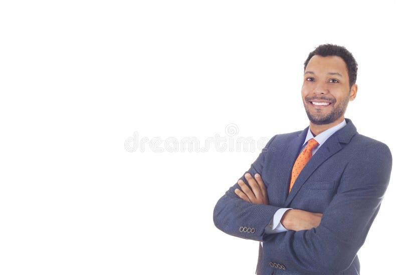 背景生意人查出的白色 免版税图库摄影
