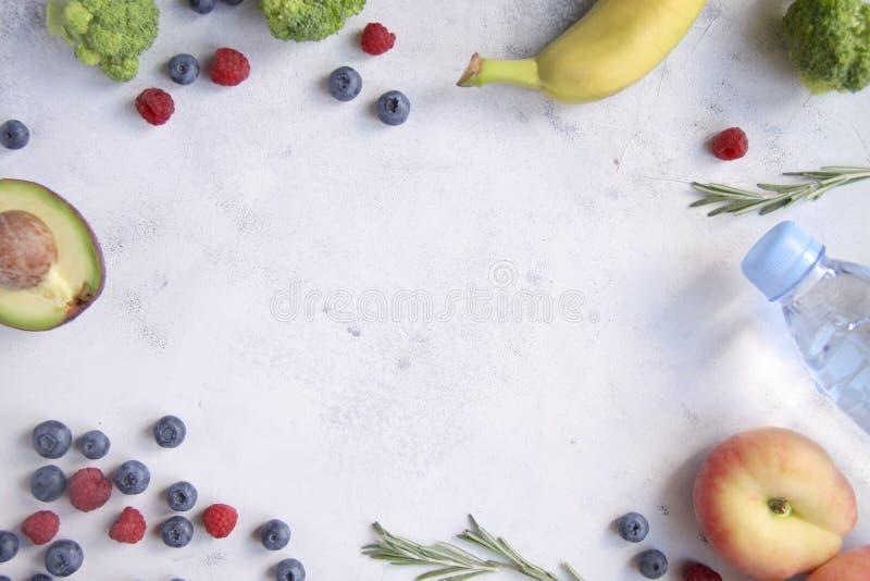 背景用水果和蔬菜 库存图片