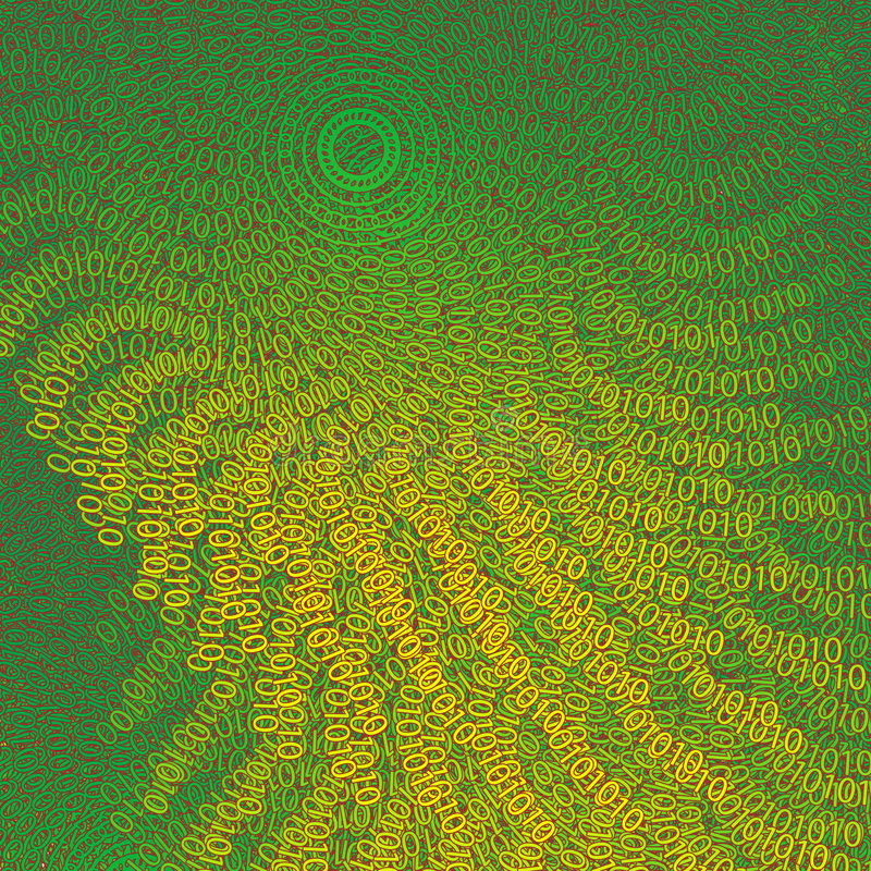 背景由二进制数2做成 向量例证
